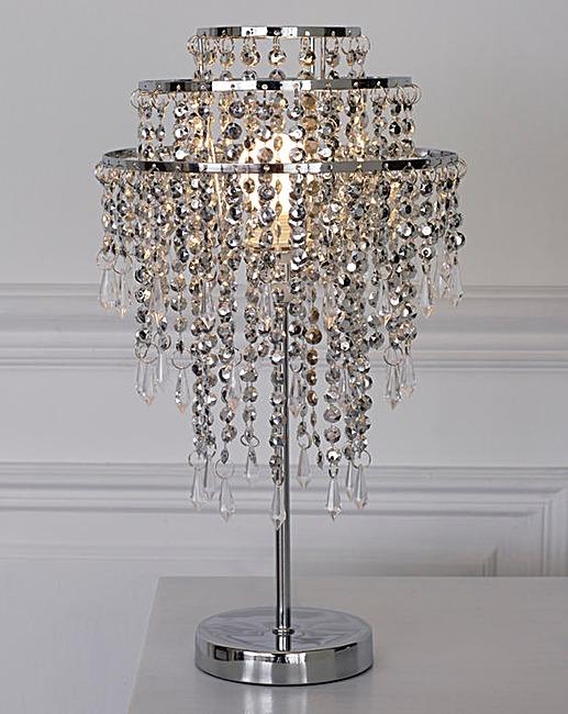 Beaded Sparkle Table Lamp | J D Williams