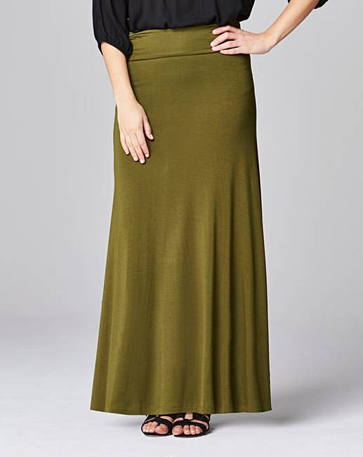stretch jersey maxi skirt simply be