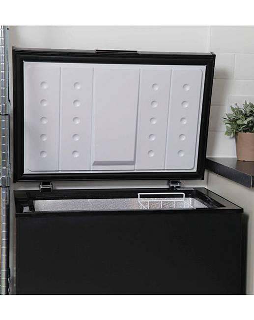 russell hobbs 142l chest freezer black ambrose wilson. Black Bedroom Furniture Sets. Home Design Ideas