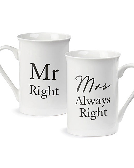 Mrs Always Right Collection Review: Mr Right/Mrs Always Right Mug
