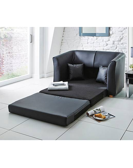 Malaga faux leather foam sofa bed marisota for Sofas malaga