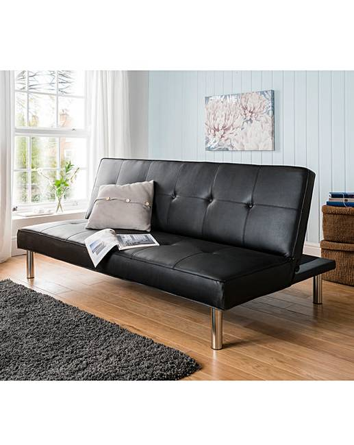 Sienna Faux Leather Click Clack Sofa Bed Oxendales