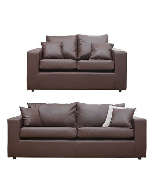 Faux Leather 3 Plus 2 Seater Sofa Oxendales