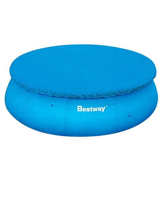 Bestway 12 foot fast set pool cover marisota for Pool set aktion
