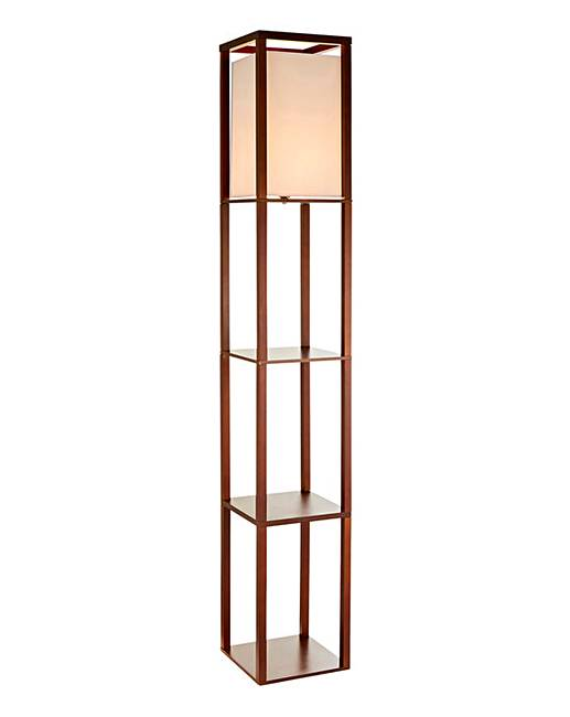 Wentworth floor lamp with shelves oxendales Floor lamp with shelves