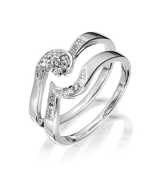 Sterling Silver Two Piece Wedding Ring