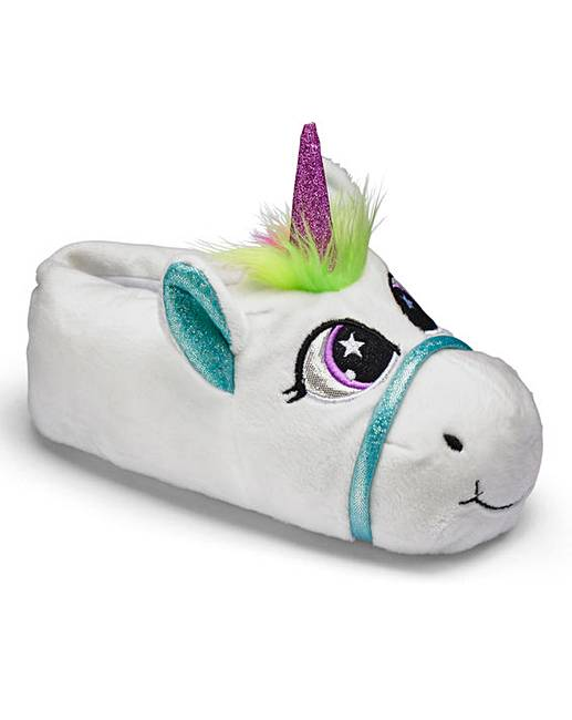 tkd girls unicorn slippers j d williams. Black Bedroom Furniture Sets. Home Design Ideas