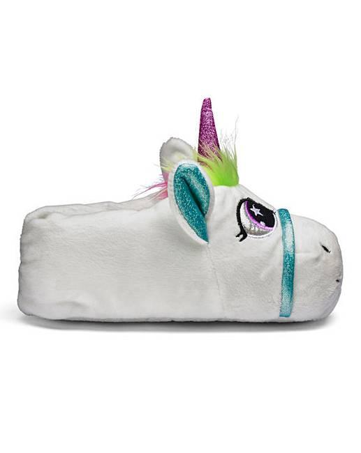 tkd girls unicorn slippers fifty plus. Black Bedroom Furniture Sets. Home Design Ideas
