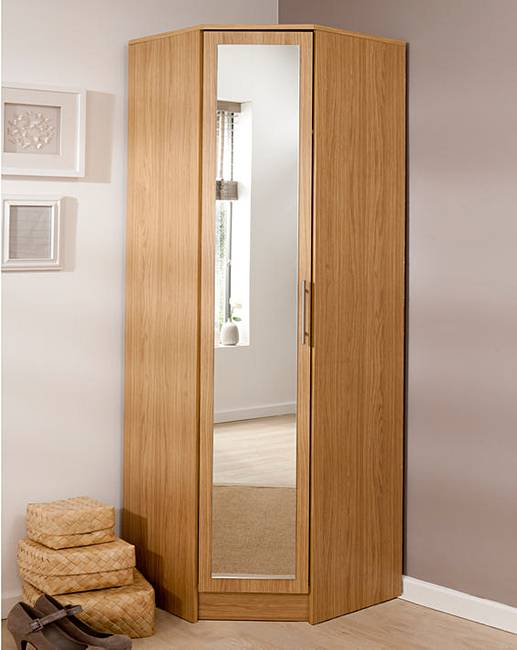 Helsinki Corner Wardrobe With Mirror Julipa