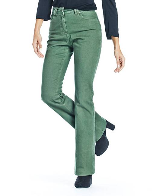 Coloured Bootcut Jeans Length 32in | Crazy Clearance
