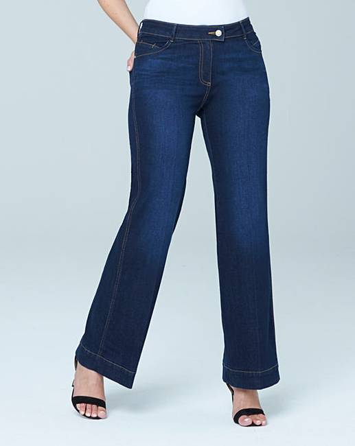 Pixie Wide Leg Jeans Long | Simply Be