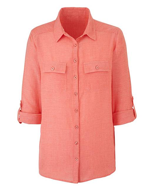 Orange chambray shirt crazy clearance for Cuisine you chambray