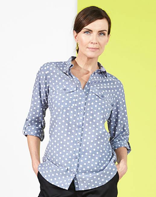 Spot print chambray shirt marisota for Cuisine you chambray