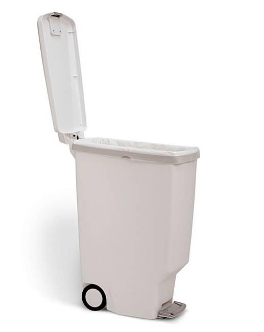 Simplehuman 40l slimline pedal bin white ambrose wilson - Slimline waste bin ...