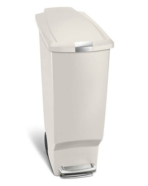 simplehuman 40l slimline pedal bin stone j d williams. Black Bedroom Furniture Sets. Home Design Ideas