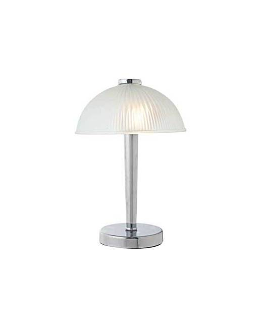 Astra Glass Touch Table Lamp - Chrome | J D Williams