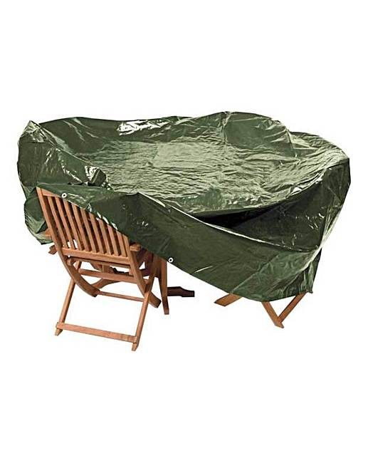 Heavy duty large oval patio set cover fashion world for Oval patio set cover