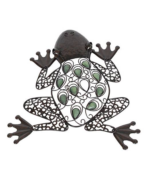 Jewelled Wall Decoration : Jewelled frog wall art oxendales