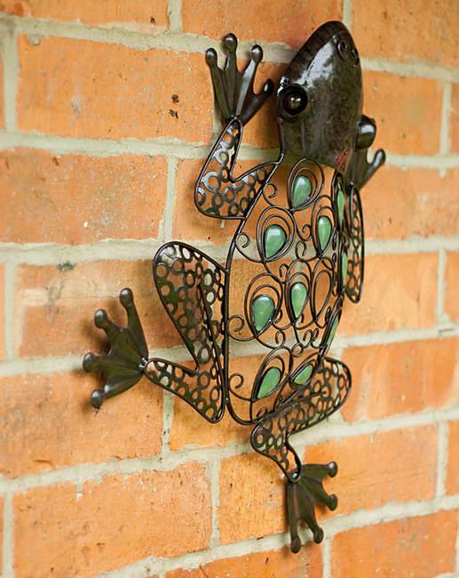 Jewelled Wall Decoration : Jewelled frog wall art j d williams