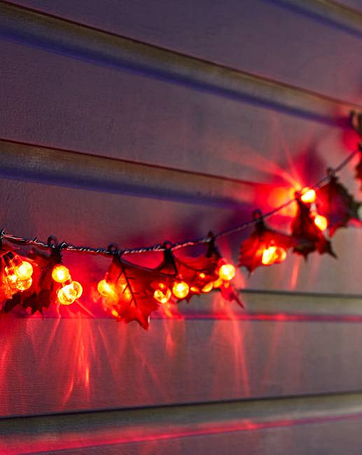 Holly & Red Berry String Lights Marisota