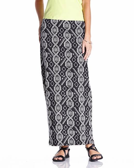 aztec print maxi skirt fashion world
