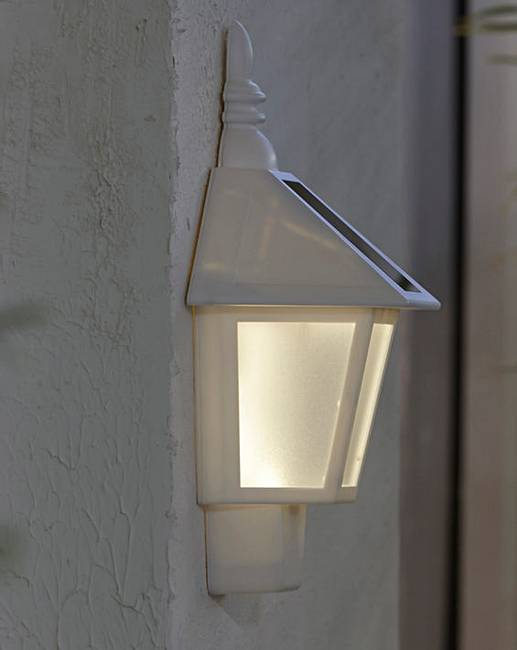 Solar Patio Wall Lights : Set of 2 Solar Powered Wall Lights J D Williams