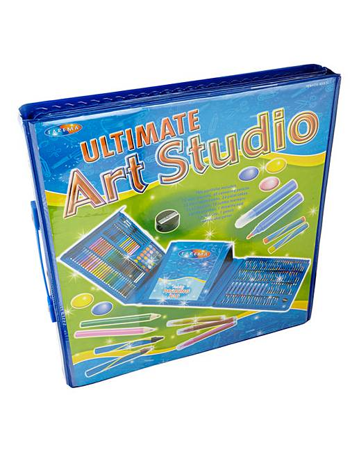 Ultimate Art Studio 250 Piece Art Set with Carry Case