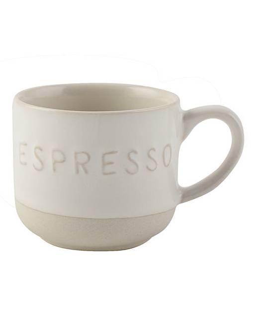 la cafetiere stoneware espresso mugs set j d williams. Black Bedroom Furniture Sets. Home Design Ideas