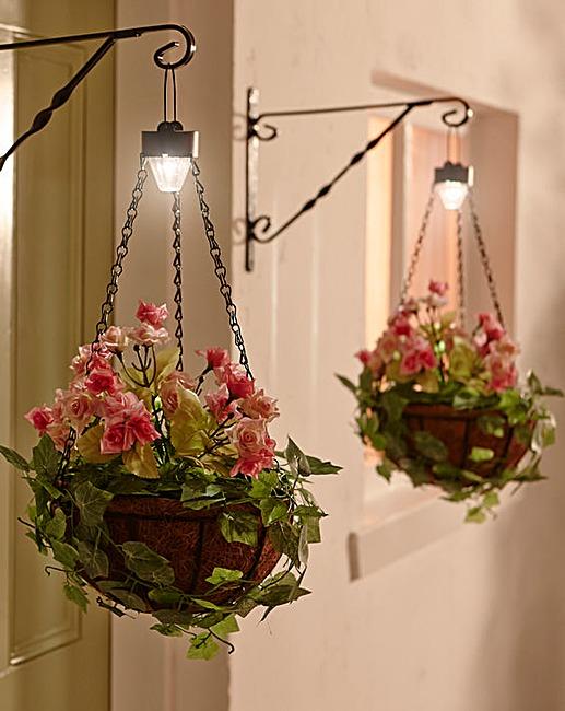 Hanging Flower Baskets With Lights : Set of hanging flower basket j d williams