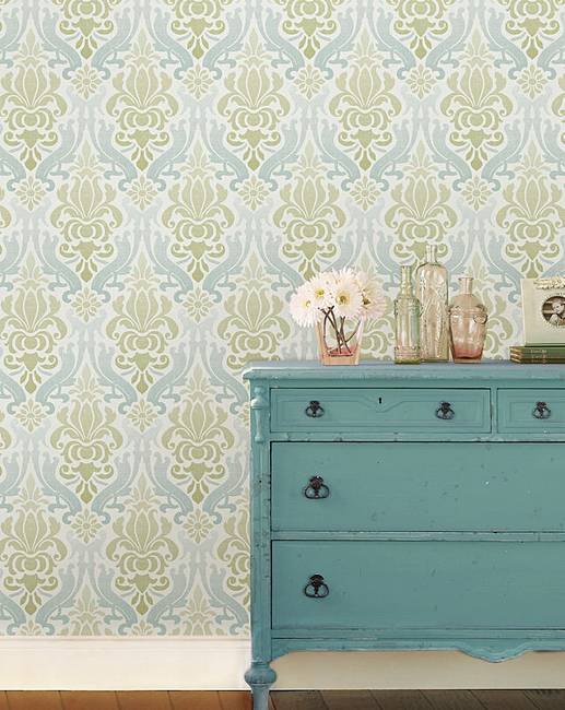 Peel And Stick Wallpaper Damask Julipa