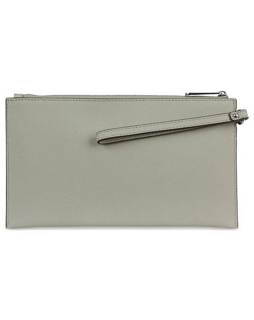 Michael Kors Large Grey Clutch Bag | Simply Be