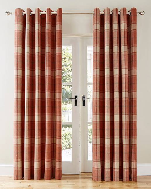 Highland Check Heavyweight Lined Curtain Marisota