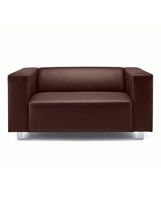 Taylor Faux Leather Two Seater Sofa J D Williams