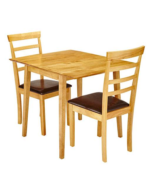 Sidmouth drop leaf table and 2 chairs marisota - Drop leaf table and chairs uk ...