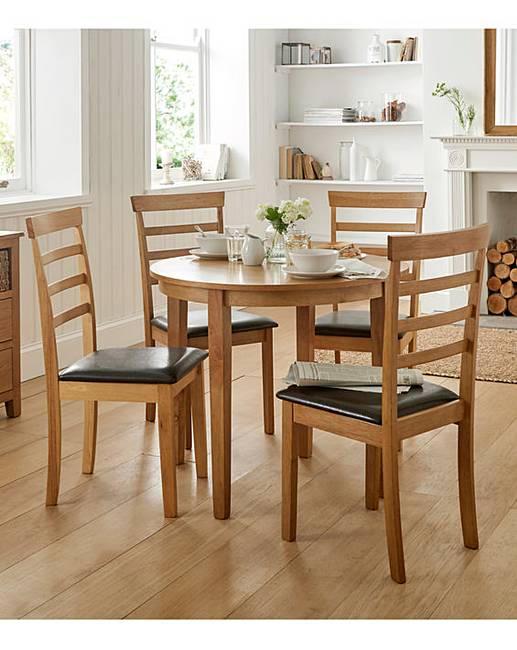Sidmouth Half Moon Table And 4 Chairs Oxendales