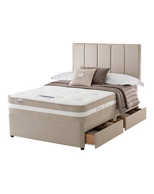Silentnight geltex 1350 4 drawer divan fifty plus for 4 drawer divan