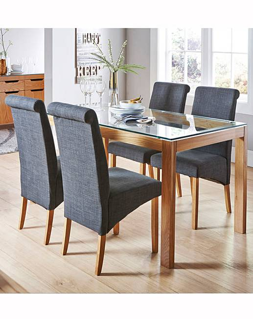 chicago oak dining table with 4 chairs j d williams