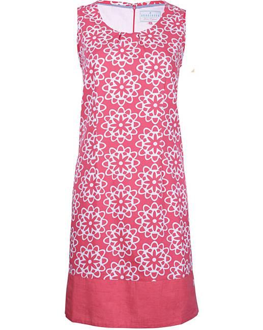 Brakeburn Coral Tile Print Dress