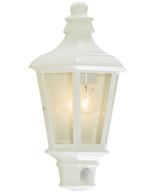 Pont Outdoor PIR Wall Light - White Premier Man