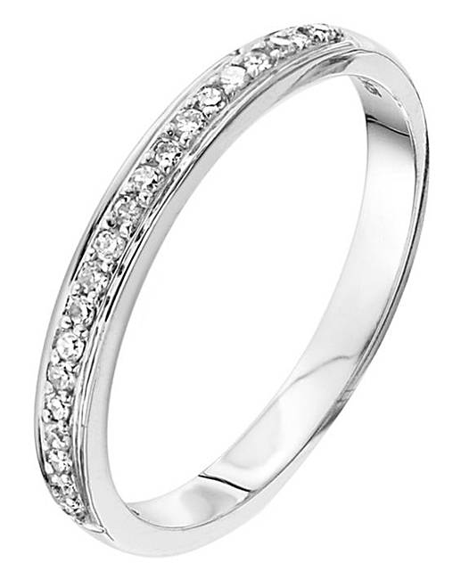 9 carat white gold eternity ring marisota