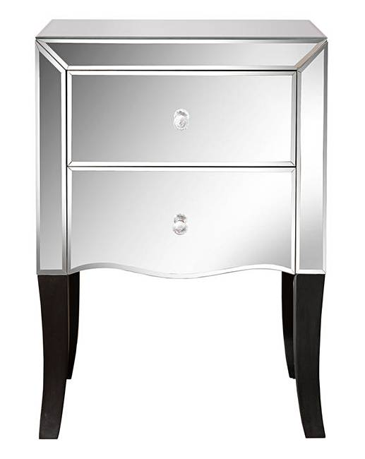 Antoinette mirrored bedside table j d williams for Mirror bedside table