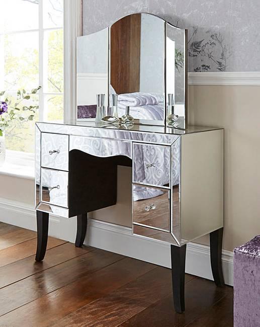 antoinette mirrored dressing table j d williams