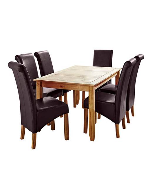Oxford Rectangular Table 6 Chairs Fifty Plus