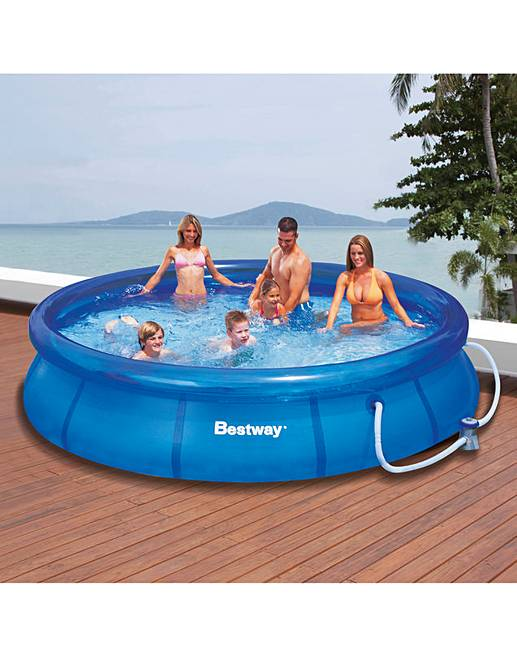 Bestway 12 foot fast set pool home beauty gift shop for Bestway pools for sale