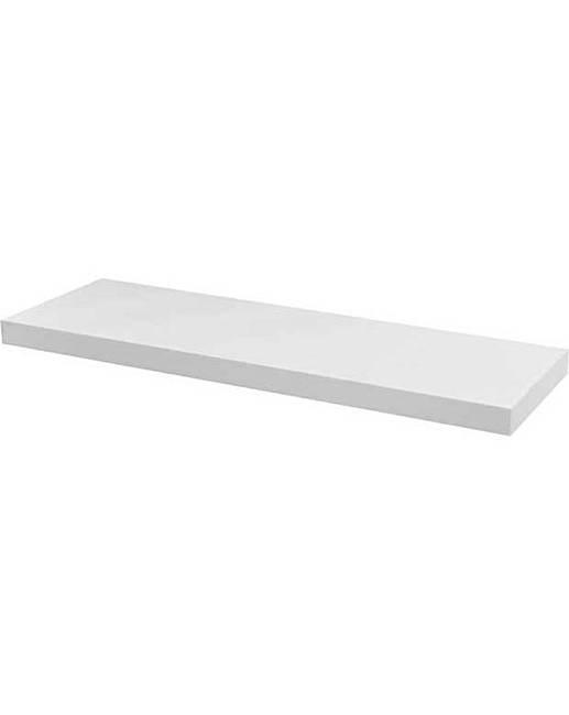 high gloss 80cm floating shelf marisota. Black Bedroom Furniture Sets. Home Design Ideas