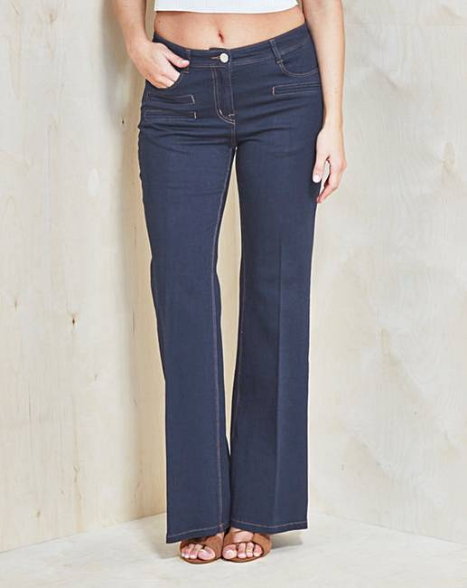 Simply Be Pixie Wide-Leg Jeans Reg | Simply Be