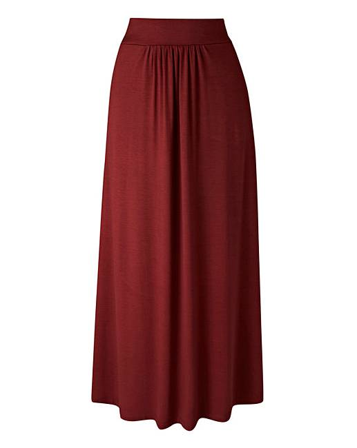 jersey maxi skirt with pockets fifty plus