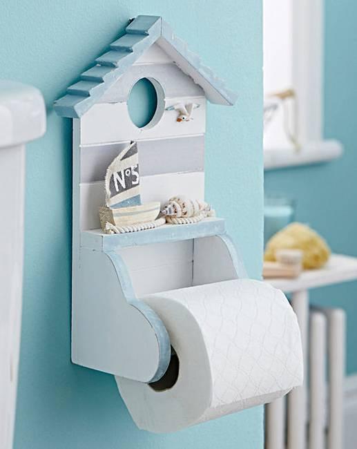 Beach hut toilet roll holder julipa - Beach toilet paper holder ...