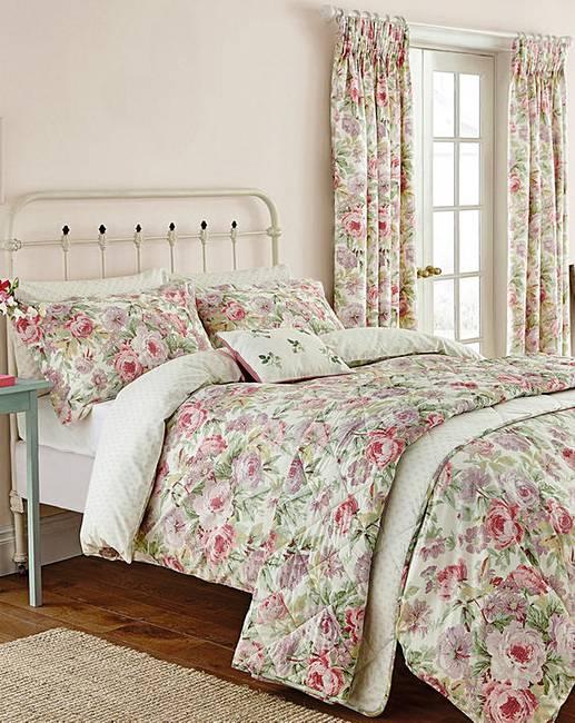 sanderson amelia rose duvet cover set house of bath. Black Bedroom Furniture Sets. Home Design Ideas