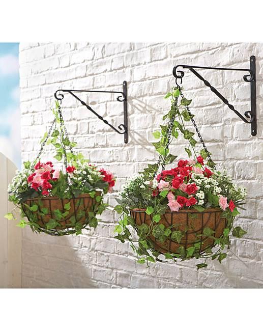 roses ready made hanging basket house of bath. Black Bedroom Furniture Sets. Home Design Ideas